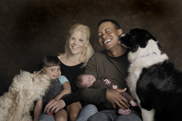 Tiger Woods, Elin Nordegren and Family
